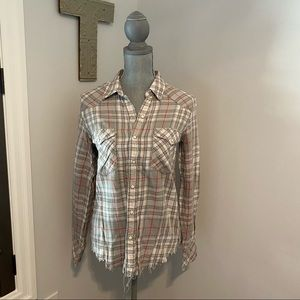 GOLDEN by TNA plaid long sleeve with snaps